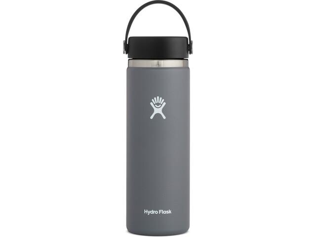 Hydro Flask Wide Mouth Flaske Med flex cap 591ml, stone